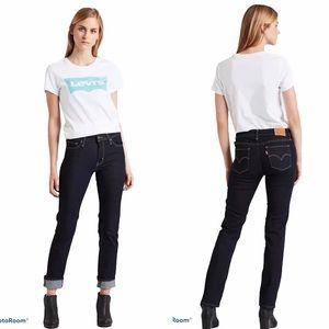 Levi's 712 Dark Wash Mid-Rise Slim Skinny Jeans